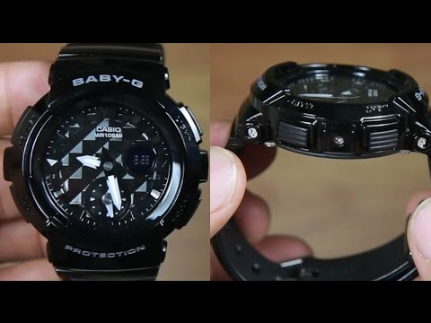 casio baby g bga 195 1a diamond black unboxing youtube. Black Bedroom Furniture Sets. Home Design Ideas