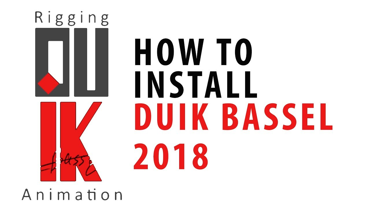 How to Install Duik Bassel (New Version 2018)