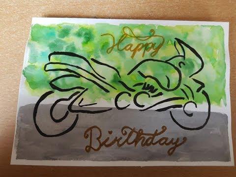 Karte Geburtstag Stampin Up Geburtstagskarte Manner Motorrad