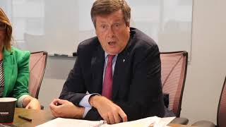 Toronto mayor John Tory speaks about BLM
