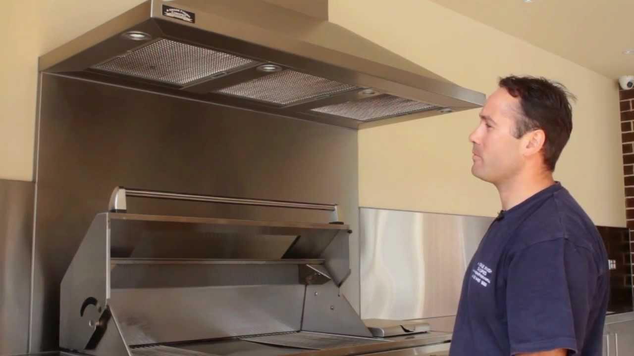 Outdoor Kitchen Hood Hardware For White Cabinets Bbq Rangehood Commercial Canopy Range Alfresco Rangehoods A Grade Finish Canopies Youtube