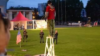 """- """"Двусторонний трюк - Mini-Tower"""". Мировое шоу каскадёров в Смоленске. Сентябрь 2013 года. -"""
