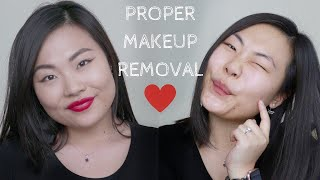 HOW TO PROPERLY REMOVE MAKEUP | Get Unready with Me!