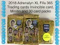 2018 Adrenalyn XL Fifa 365 trading cards Invincible card, Minitin and 30 packs