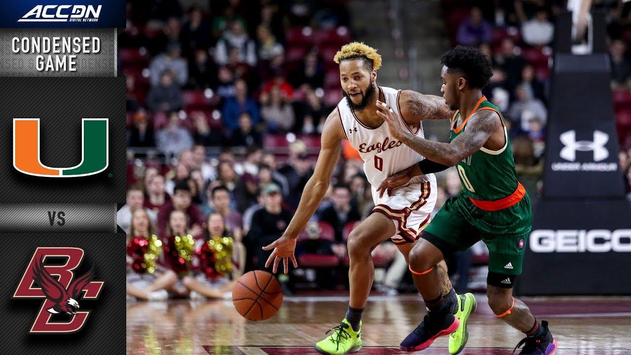 Miami vs. Boston College Condensed Game | 2018-19 ACC Basketball