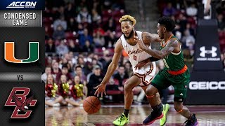 Miami vs. Boston College Condensed Game | 2018-19 ACC Basketball