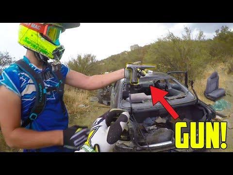 FOUND GUN IN STOLEN CARS TRUNK!