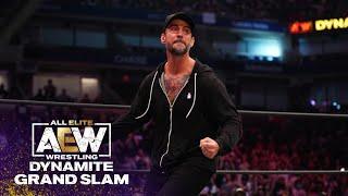 CM Punk Rocks 20,000 fans in Arthur Ashe Stadium   AEW Dynamite Grand Slam, 9/22/21