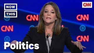 Marianne Williamson Defends Reparations Plan During Democratic Debate | NowThis 'People heal when there is some deep truth telling.' -- Watch Marianne Williamson fiercely defend her ambitious plan to pay reparations to African Americans., From YouTubeVideos