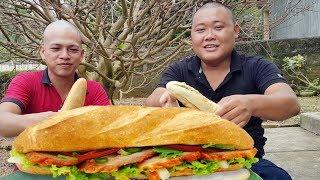 Sơn Dược Vlogs - THÁNH ĂN ĐẦU TRỌC Thử Thách Ăn Hết 8 Ổ Bánh Mì - HƯƠNG VỊ MIỀN TRUNG #40