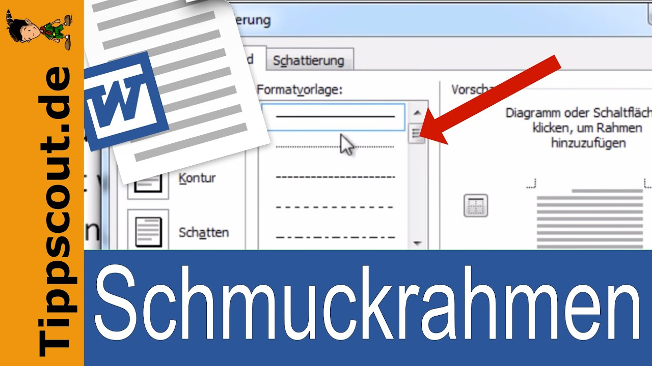 Schmuckrahmen in Word - YouTube