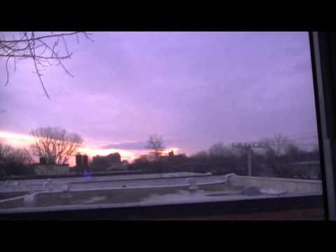 Sun rise Montreal