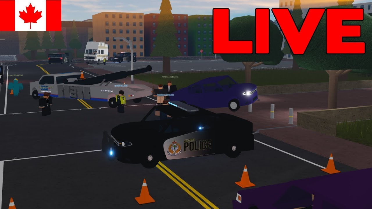 🔴Roblox City of Vancouver LIVE! | Patrolling as Police & More!