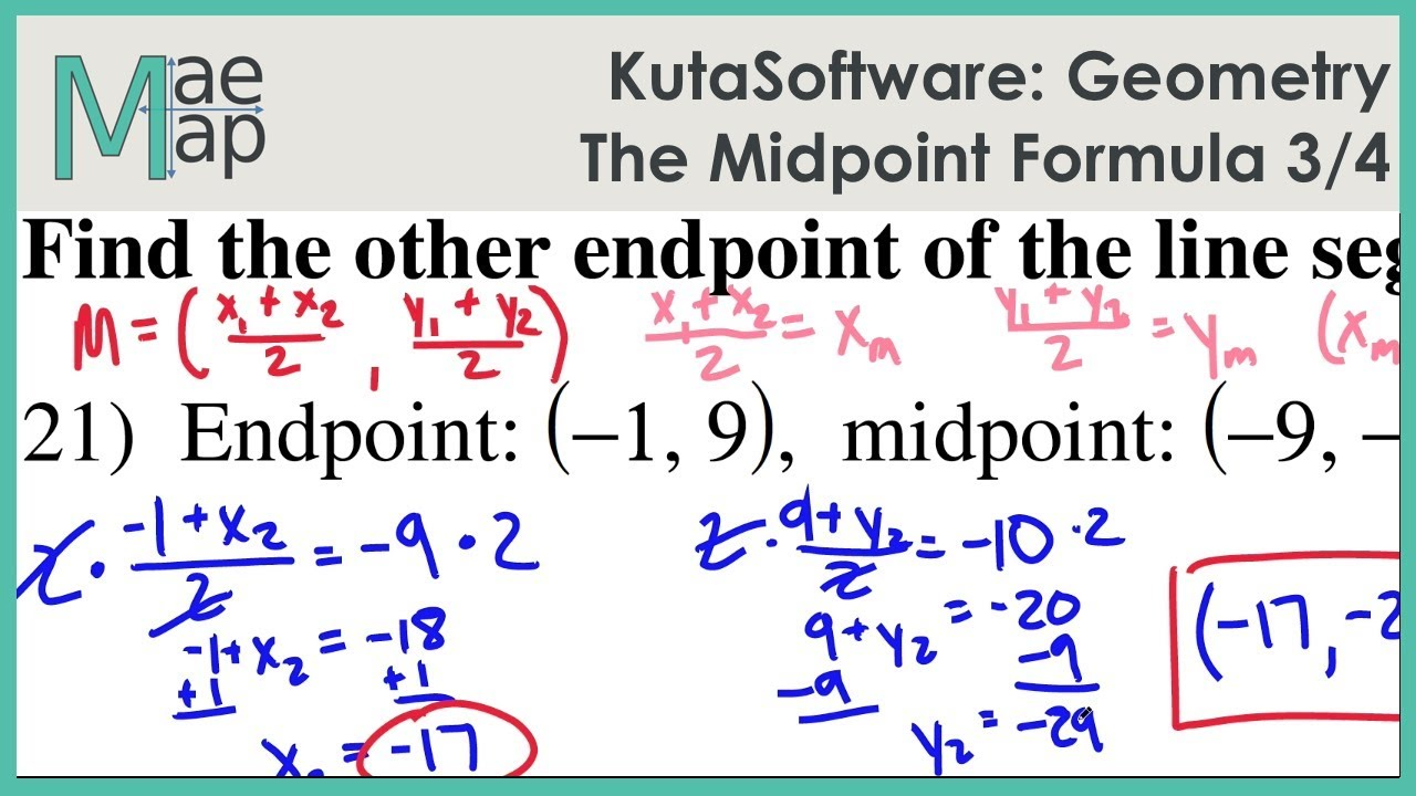 KutaSoftware: Geometry- The Midpoint Formula Part 3