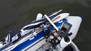 Inflatable Boat Setup During Bass Fishing Comp