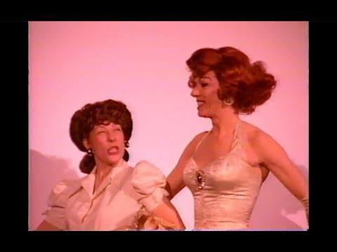 Lypsinka and Lily Tomlin (as Ernestine) onstage in San Francisco