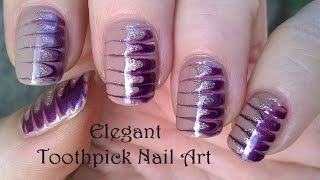 Gambar cover TOOTHPICK NAIL ART #4 - DIY Elegant Melted Nails In Gold & Purple