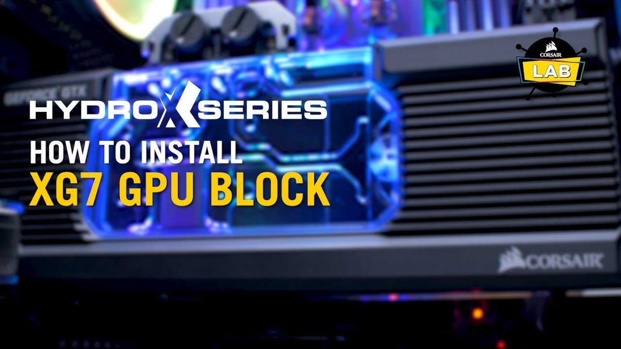 Hydro X Series XG7 RGB 10-SERIES GPU Water Block (1080 Ti FE)