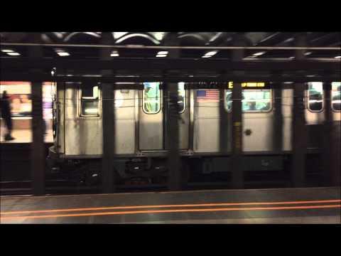 NYC Subway HD: Alstom & Kawaski R160 E Trains @ Court Square – 23rd Street (12/21/14)