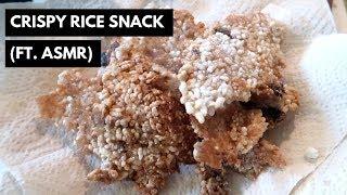 (ASMR) Korean traditional snacks: Crispy rice snack/scorched rice/누룽지 과자