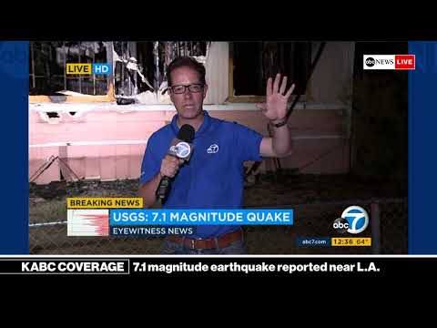 BREAKING NEWS - 7.1 magnitude earthquake reported near Los A