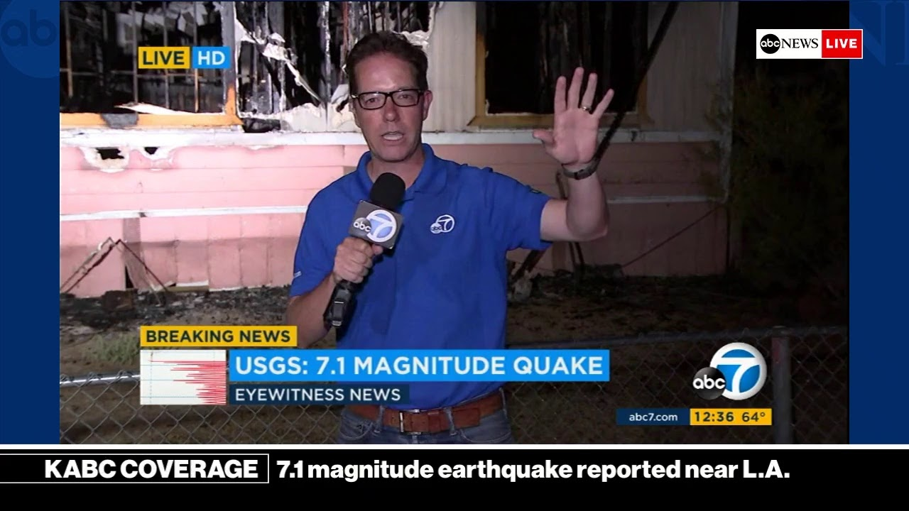 BREAKING NEWS - 7 1 magnitude earthquake reported near Los Angeles | KABC  News Coverage