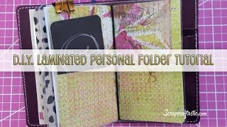 DIY Laminated Pocket Folder for Personal Size Midori/Fauxdori Style Traveler's Notebook (Corrected)