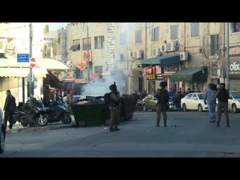 Palestinians in Jerusalem protest Trump's decision