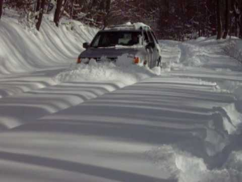 98 Isuzu Rodeo Plowin 3 Feet Of Snow Without A Plow