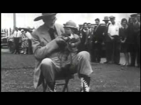 A 1900's short silent film showing the worlds tallest man hanging out with the worlds shor
