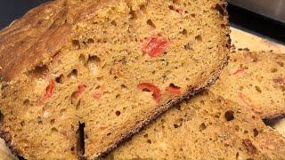 Хлеб на закваске / ФОКАЧЧА в хлебопечке с томатами / Хлеб без промышленных дрожжей