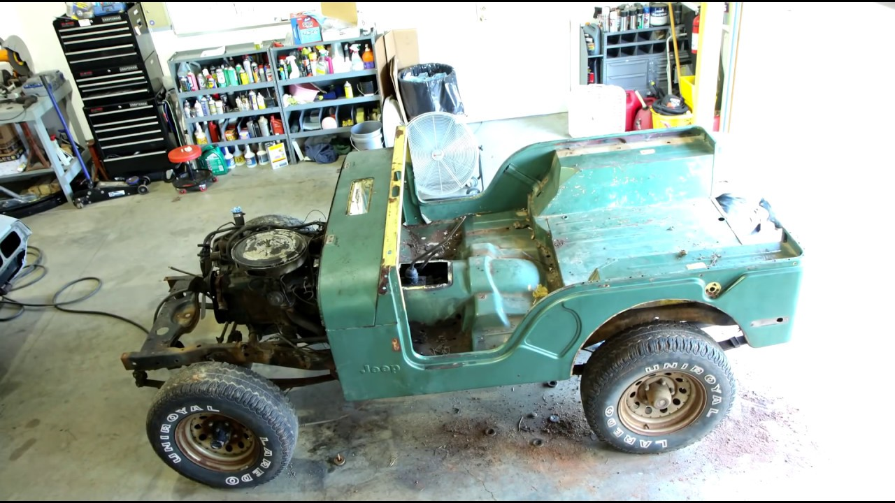 small resolution of 10 minute time lapse 1976 jeep cj5 resortaion