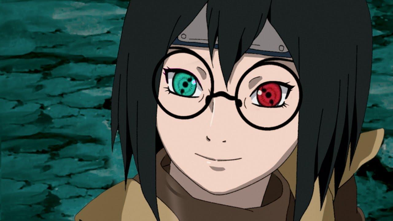 Таинственная девушка с разноцветным Шаринганом клана Учиха в аниме Наруто