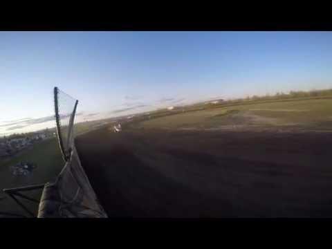 Winged Sprint Cars at Mitchell Raceway - Flagman POV