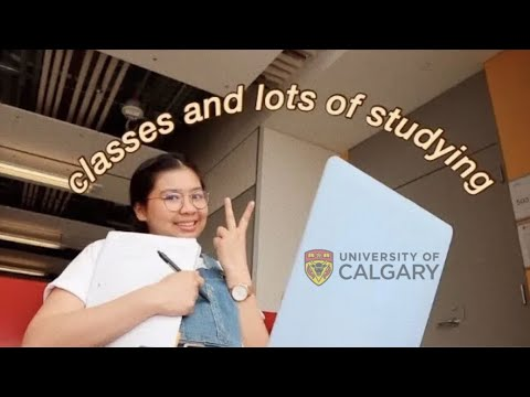 A Week In My Uni/college Life: Classes And Studying | University Of Calgary