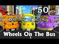 Wheels On The Bus Go Round And Round   3D Animation Kids  Songs   Nursery Rhymes for Children