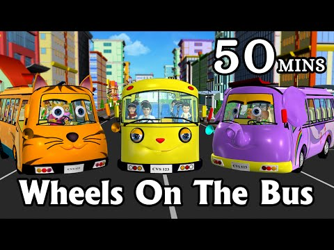Thumbnail: Wheels On The Bus Go Round And Round - 3D Animation Kids' Songs | Nursery Rhymes for Children