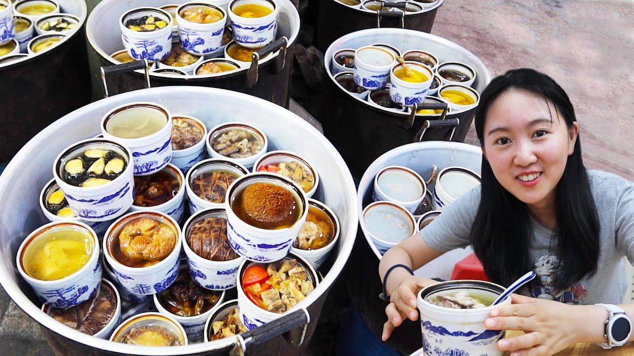 南昌大锅蒸汤店,老办法10个土炉蒸300盅,早上喝没有,只能晚上卖
