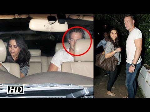 Caught! Preity Zinta with SA cricketer David Miller
