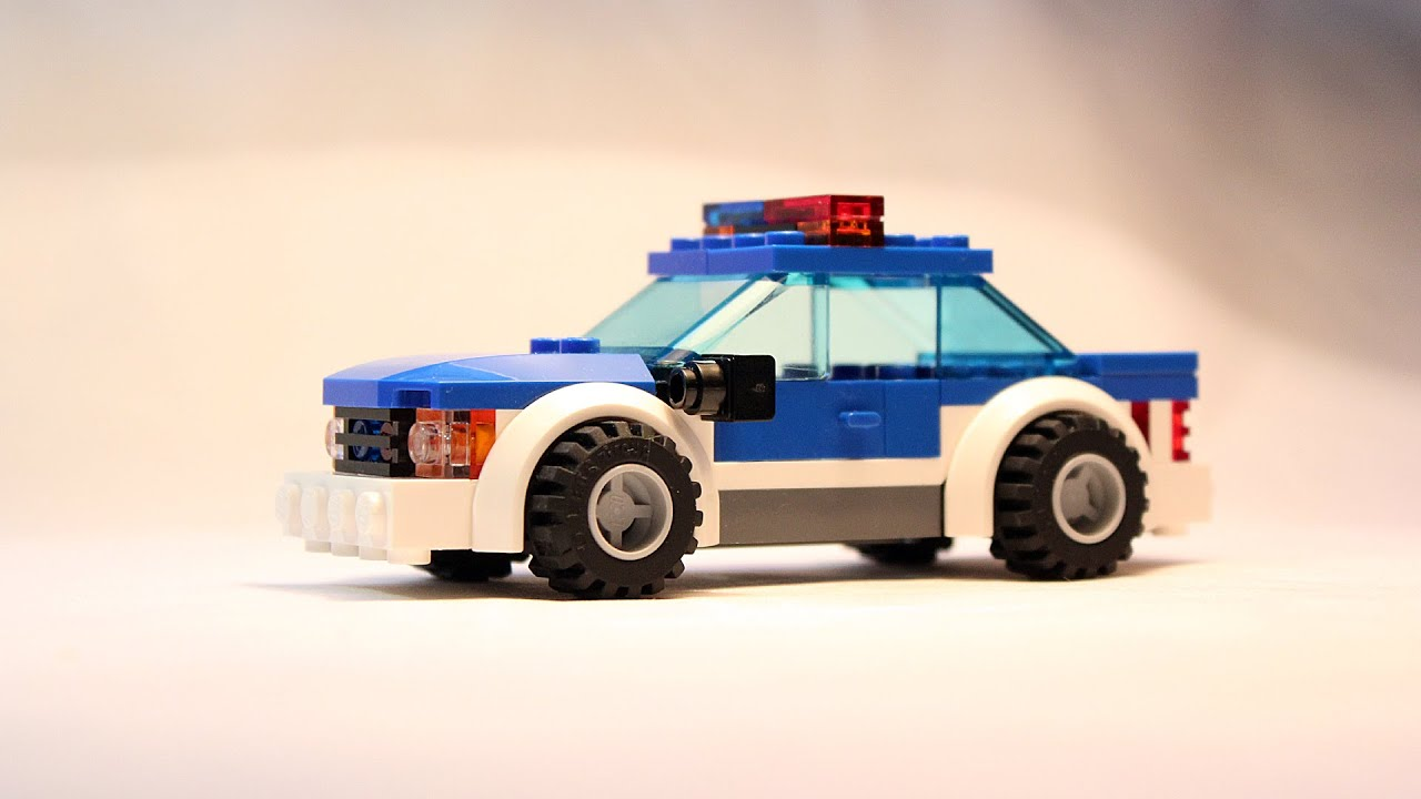 Custom Lego City Police Car Building Instructions Moc Youtube