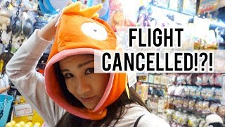 My FLIGHT got CANCELLED because of the Typhoon in Japan :(