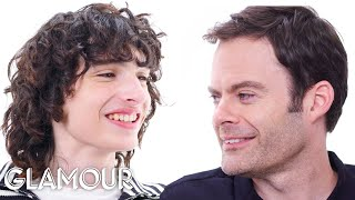 Bill Hader and Finn Wolfhard Interview Each Other | Glamour