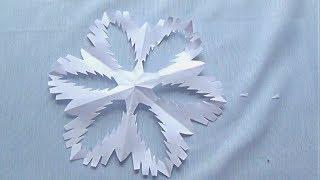 як зробити новорічні сніжинки відео урок