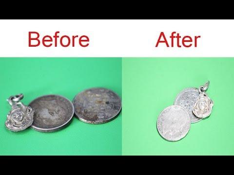 How to Clean Silver Coins at Home   चांदी को साफ करने का घरेलु तरीका