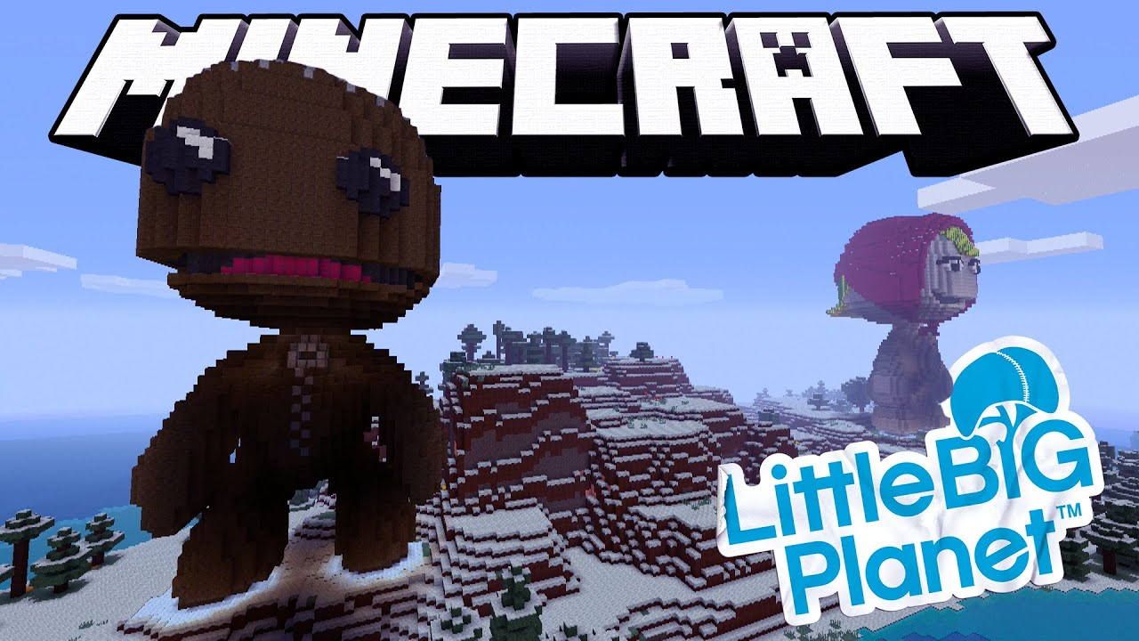 Minecraft LittleBigPlanet Themed World And Texture Pack Showcase - Little big world map