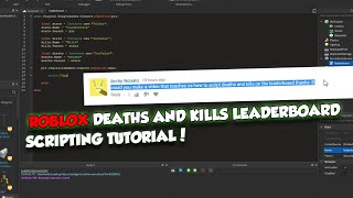 How to add kills and deaths to a leaderboard - Roblox Scripting Tutorial!