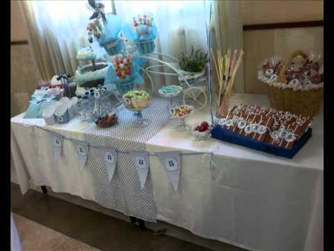 Mesas dulces comuniones 2013 youtube - Como decorar una mesa de comunion ...