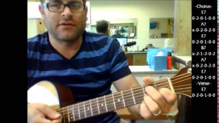 """How to play """"Be-Bop-A-Lula"""" by Gene Vincent on acoustic guitar"""