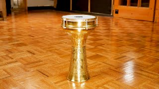 MEINL Percussion - Copper Darbuka, Brass Plated, Hand Hammered - HE-215