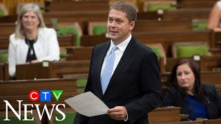 On his last day as Tory leader in the House of Commons, Scheer calls out PM Trudeau's absence